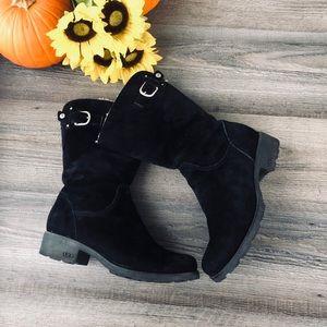 Ugg black low sheepskin boots